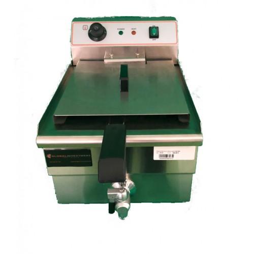 Freidora eléctrica 16 litros con grifo