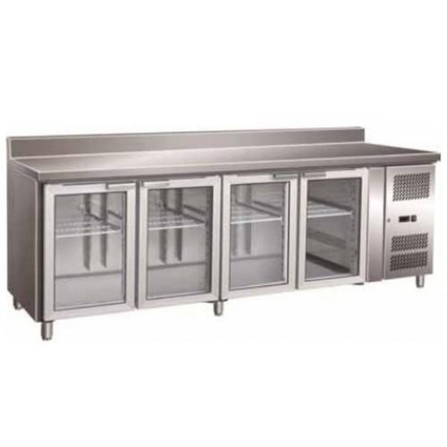 Mesa refrigerada 4 puertas cristal