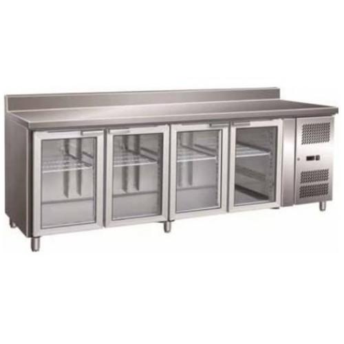 Mesa refrigerada 5 puertas cristal