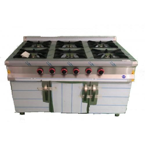 Cocina 6 fuegos con mueble