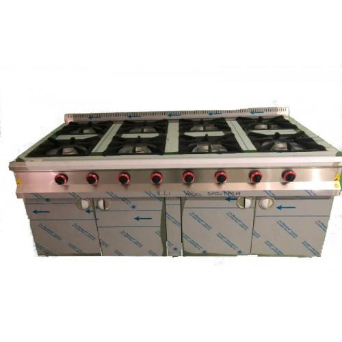 Cocina 8 fuegos con mueble
