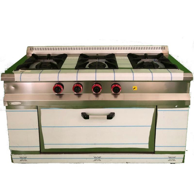 Cocina 3 fuegos con horno