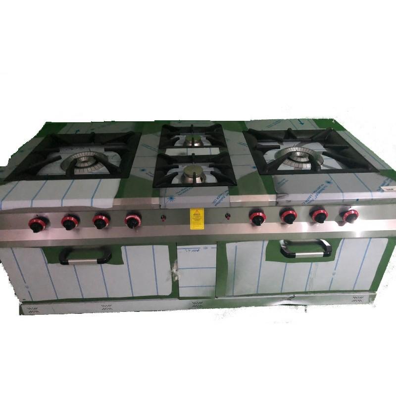 Cocina 4 fuegos con 2 hornos