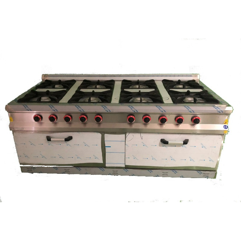 Cocina 8 fuegos con horno